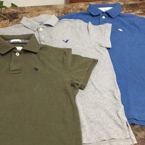 Bundle Abercrombie & Fitch polo Men's shirts Lsz